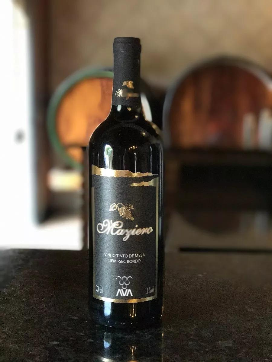 519084975 Vinho Tinto De Mesa Demi-sec Bordô Maziero Vinho Papa 720ml - R  60 ...