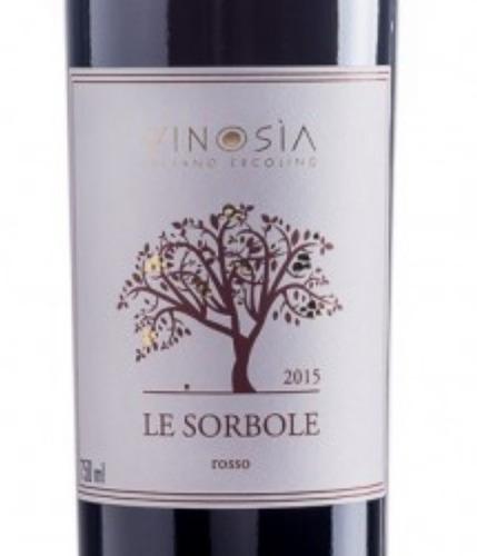 vinho tinto italiano vinosia le sorbole rosso campania igt