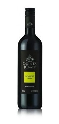 vinho tinto quinta jubair bordô suave - 750ml