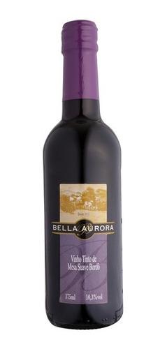 vinho tinto suave bordô 375ml - bella aurora