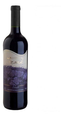 vinho tinto suave bordô 720ml - frank