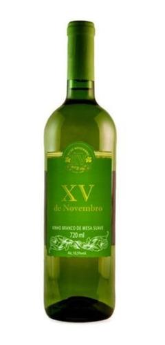 vinho tinto suave branco  720 ml  xv de novembro