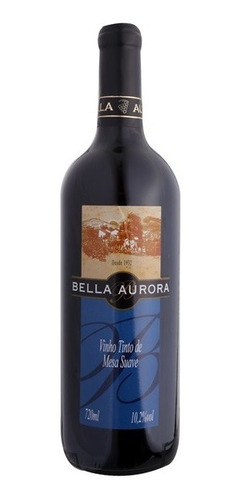 vinho tinto suave isabel/bordô 720ml - bella aurora