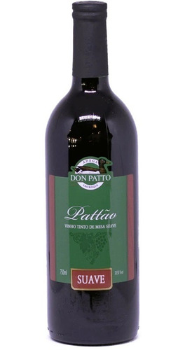 vinho tinto suave isabel/bordô 750ml - don patto