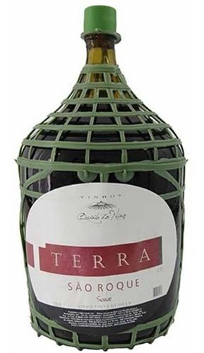 vinho tinto suave isabel/bordô terra são roque 4,5 l