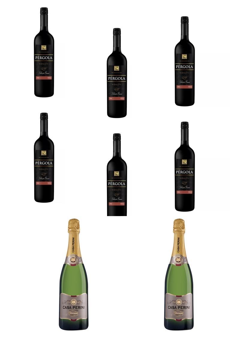 c72e0ecad vinho tinto suave pérgola 6 x 750ml + 2 x 750ml brut charmat. Carregando  zoom.