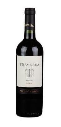 vinho tinto uruguaio traversa merlot - 750 ml