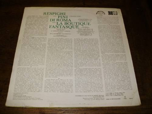 vinil 12' respighi pine of rome boutique fantasque supraphon