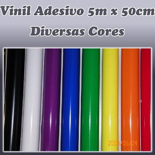 vinil adesivo 5m x 50 cm p/ aeromodelo, decoração, plottler