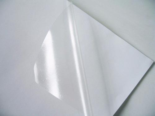 vinil adesivo a4 transparente para impressora inkjet brinde