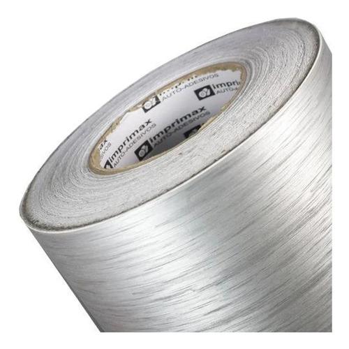 vinil adesivo aço escovado prata inox - 5mx60cm