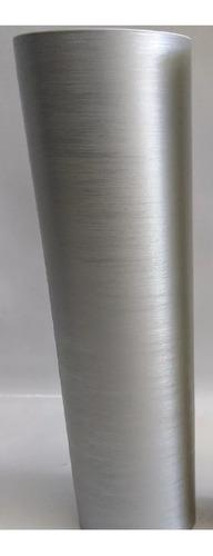 vinil adesivo aço escovado prata inox - bobina com 3 metros