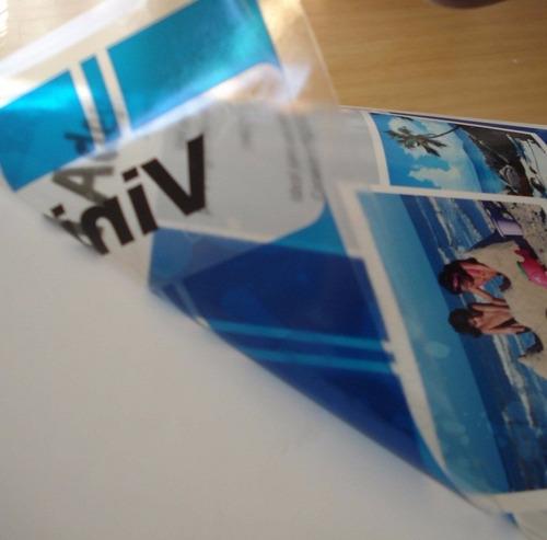 vinil adesivo transparente p/ jato de tinta a4 20 unids