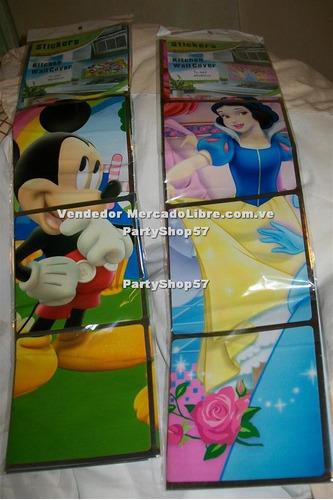vinil afiche para decorar mickey princesas