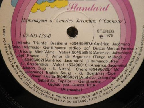vinil américo jacomino canhoto c/encarte