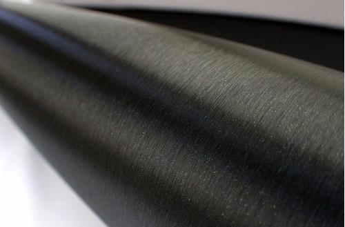 vinil automotriz cepillado negro metal brushed autoelite