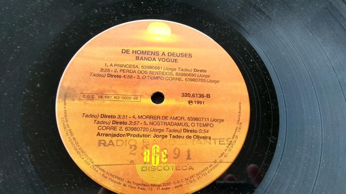 892e5461de Vinil Banda Vogue De Homens A Deuses Lp Em Oferta 1991 - R$ 39,90 em ...