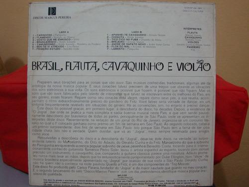 vinil brasil, flauta, cavaquinho e violão