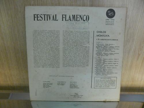 vinil carlos montoya - festival de flamenco