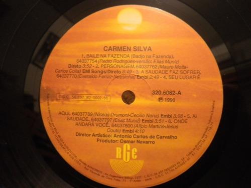 vinil carmen silva - 1990 - baile na fazenda