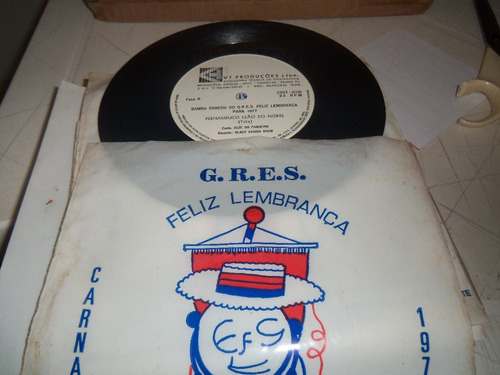 vinil   compacto  g.r.e.s.   feliz  lembrança  carnaval   78