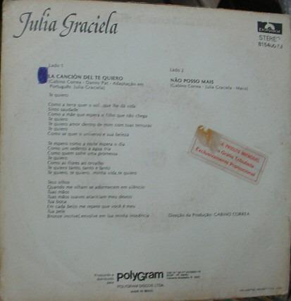 vinil compacto  julia graciela  1983