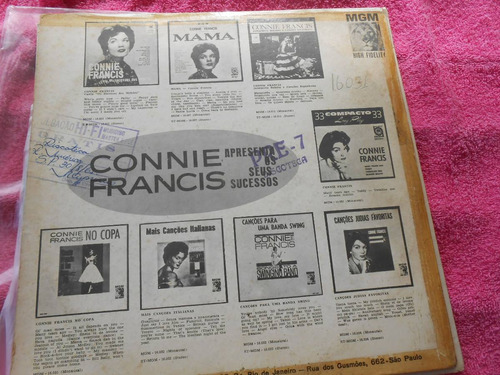 vinil connie francis 2 lp's pelo preço de um (nacional imp)