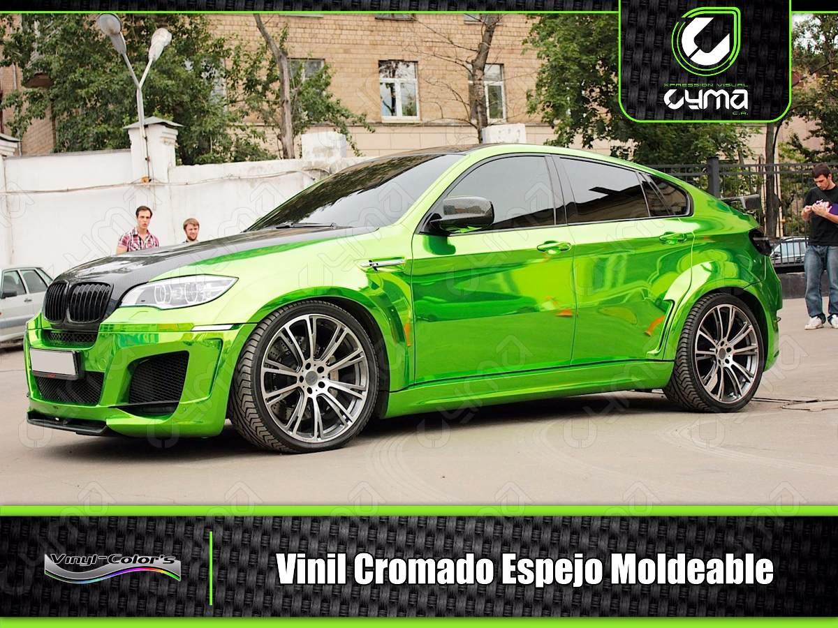 Vinil Cromado Tipo Espejo Semi-moldeable Airfree 1.52 X 0.50 - Bs ...