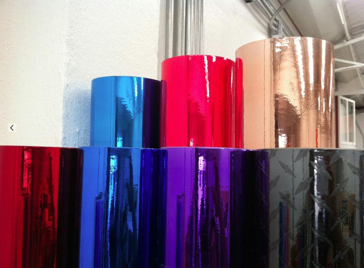 Vinil cromo plata tipo espejo autoadherible 61 cm anc for Espejo 50 cm ancho
