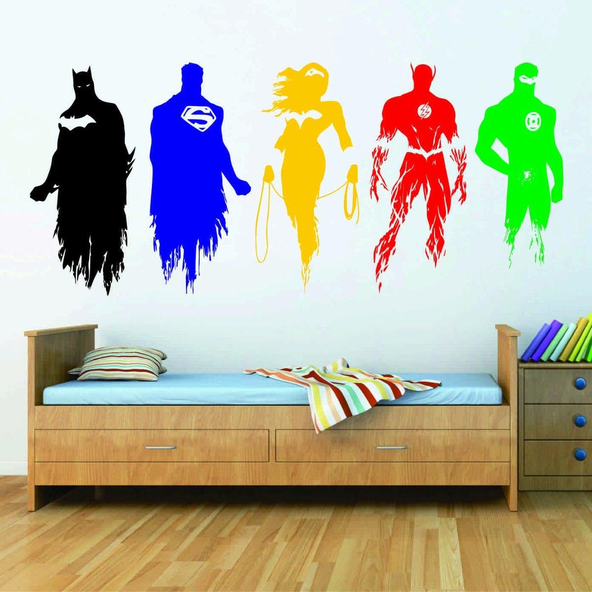 Vinil Decorativo Calca Personajes Liga De La Justicia 456 00  # Muebles A Medida La Justicia