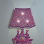 vinil decorativo con luz lamparita castillo para niñas