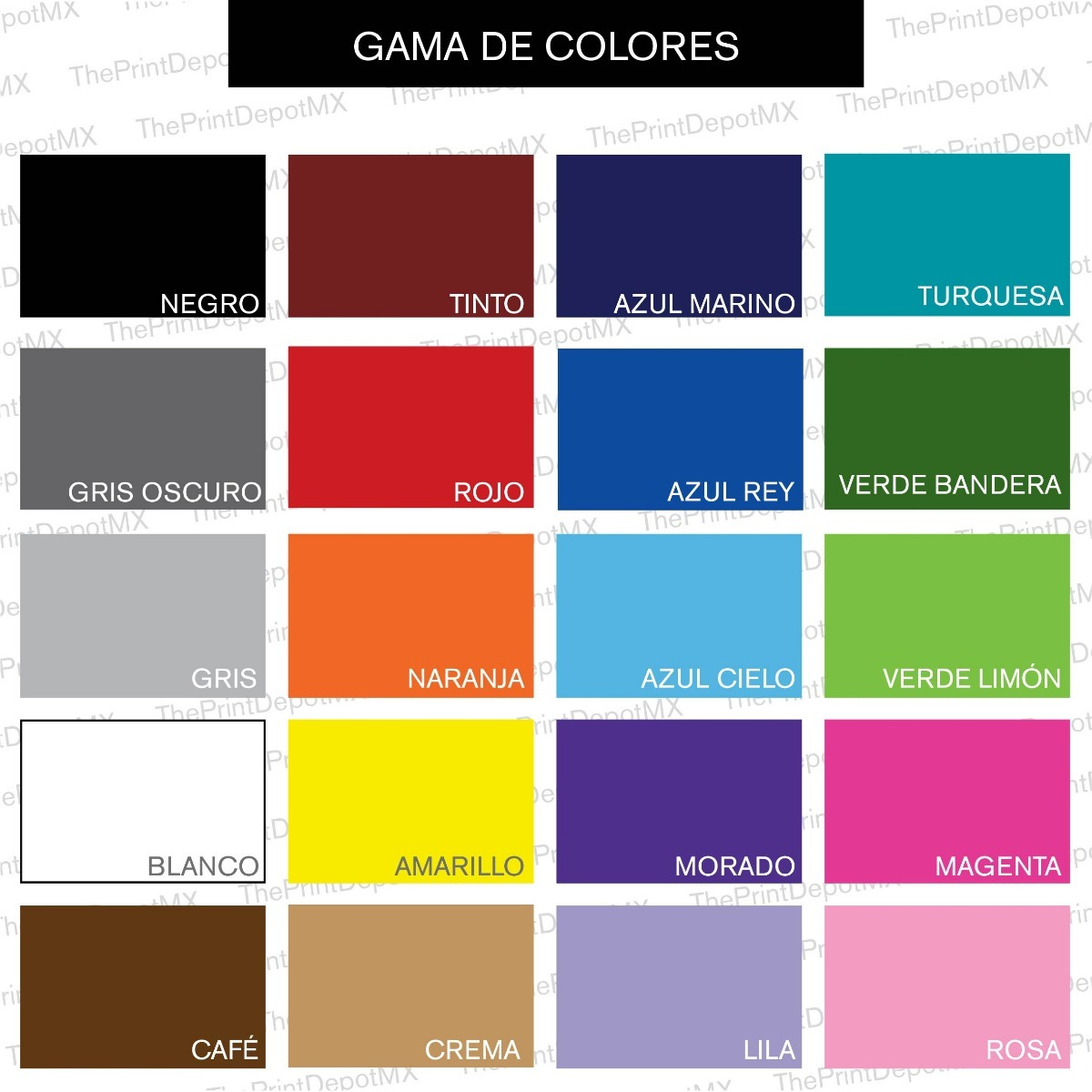 Vinil decorativo cuarto ni a cualquier nombre color - Nombres de colores de pinturas ...