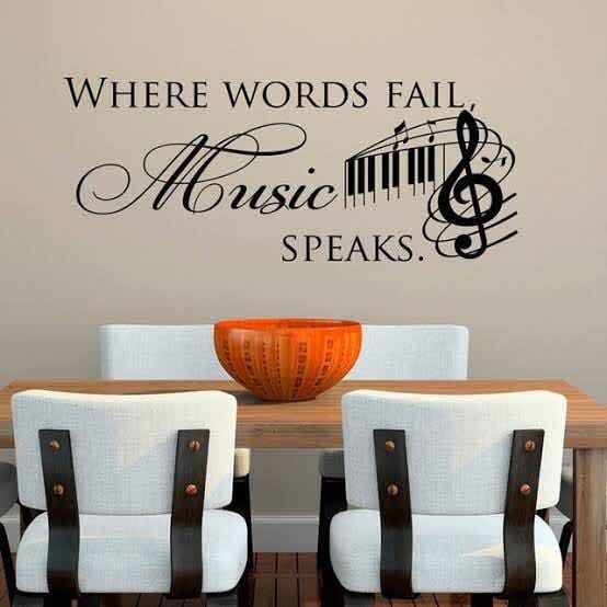 Vinil Decorativo De Frase Motivacional Sobre La Música