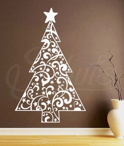 Vinil decorativo dise o arbol de navidad christmas tree - Arbol navidad diseno ...
