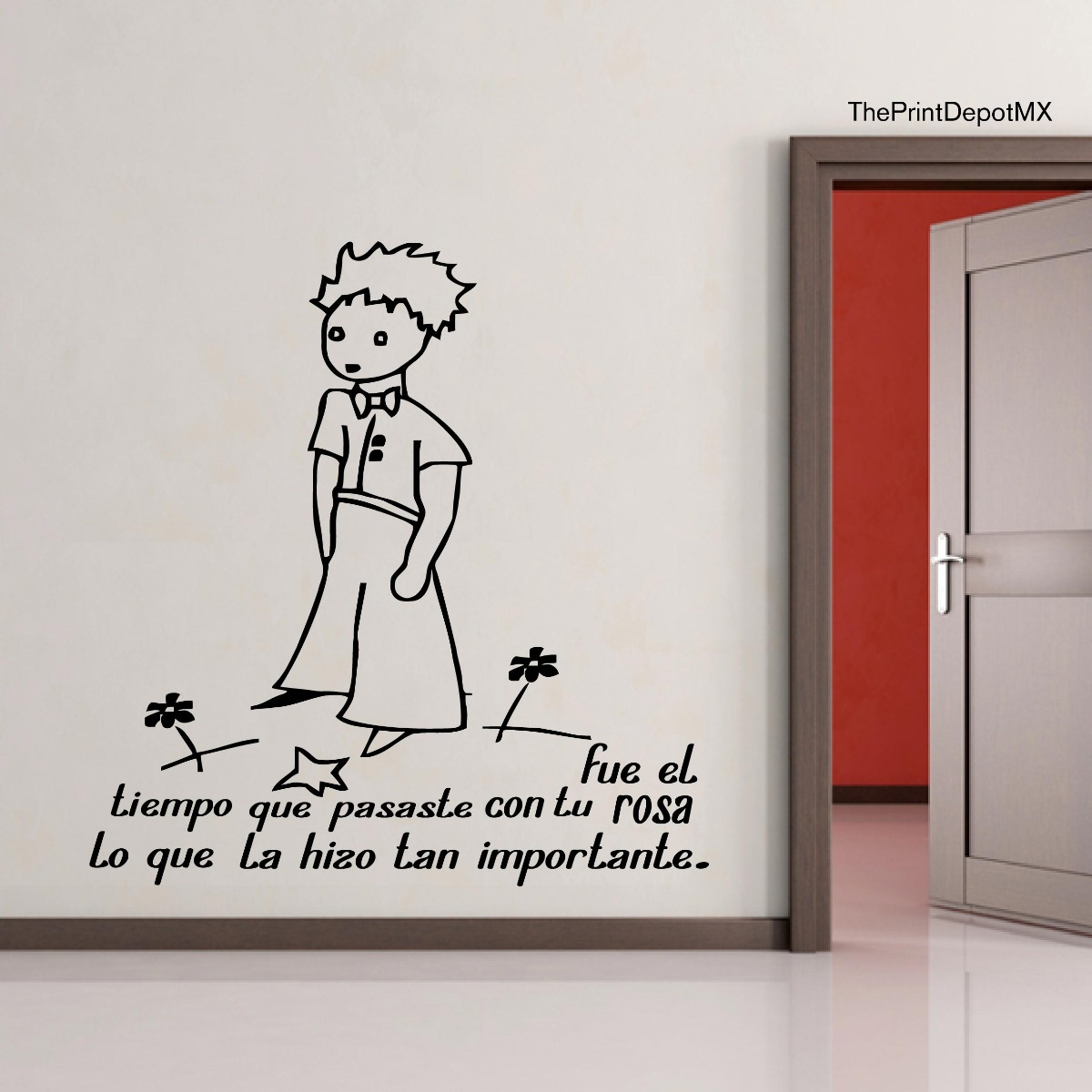 Vinil Decorativo El Principito Frase Tu Rosa Envio Gratis