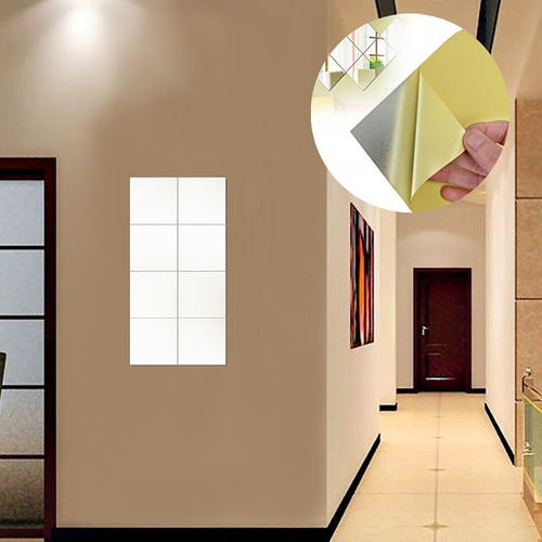 vinil decorativo espejo para baño, sala, recamara 152