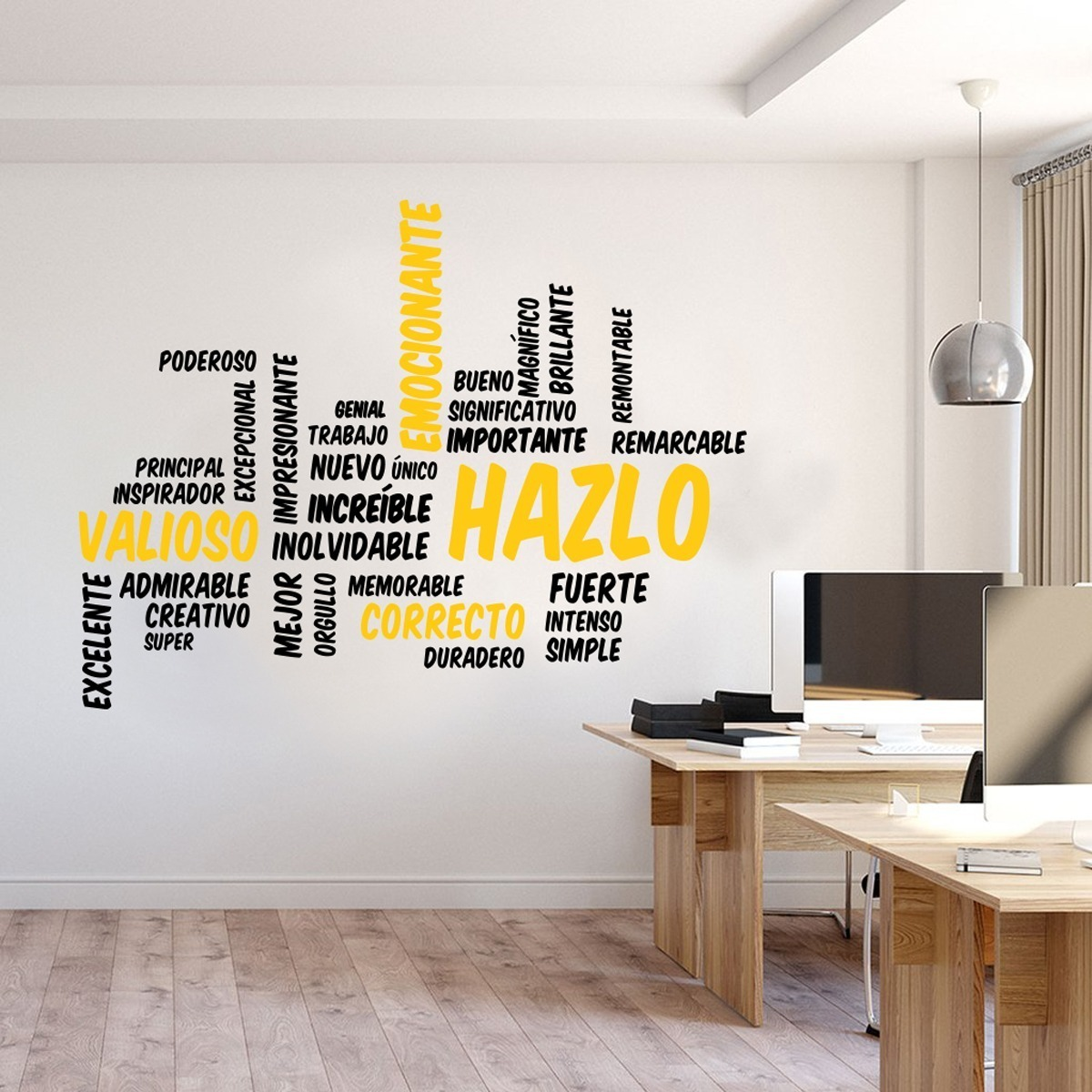 Vinil Decorativo Frases Motivacional Para Oficinas Estudio Make It Hazlo 120x92cm Varios Colores