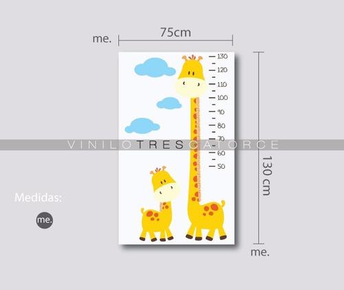 vinil decorativo infantil regla jirafa-i 17. estadimetro