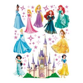 Vinil Decorativo Princesas Y Castillo Stickers Para Muro