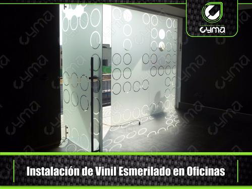 vinil esmerilado frosted (venta e instalación)