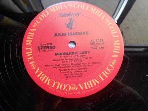 vinil julio iglesias moonlight lady, lp mix importado