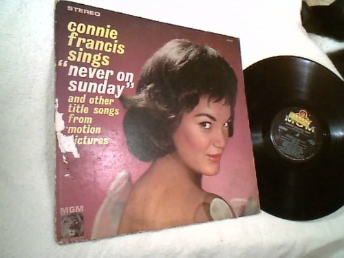 vinil lp ( conie francis sings - never on sunday ) raridade