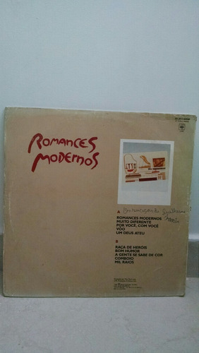 vinil / lp guilherme arantes - romances modernos