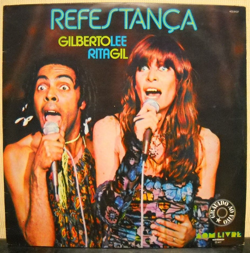 vinil - lp refestança - rita lee e gilberto gil (1977)
