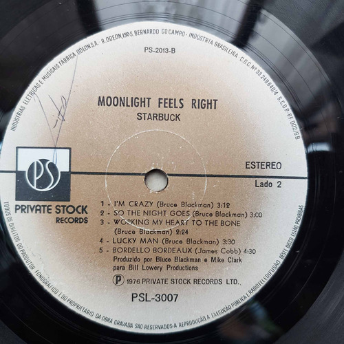 vinil lp starbuck moonlight feels right com encarte