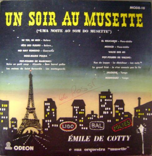 vinil / lp un soir au musette - émile de cotty