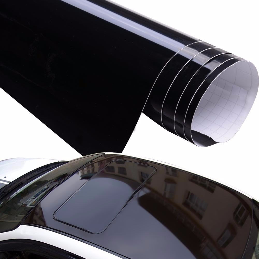 Vinil Negro Brillante Gloss Piano Tipo Cristal 1 52m X 1
