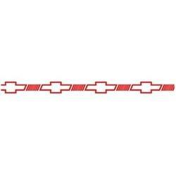 vinil o cinta decorativa emblema chevrolet 1.27cm x 11mts