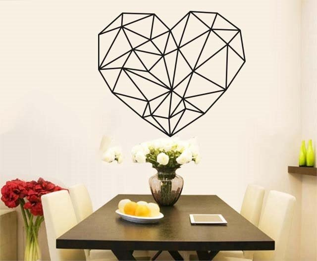 Vinil para decorar paredes corazon figura geometrica for App decoracion hogar
