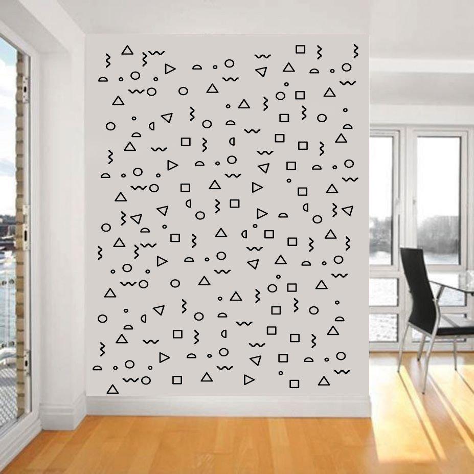 Vinil para decorar paredes patrones retro figuras en mercado libre - Fotos para decorar ...
